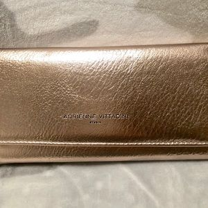 NWT Adrienne Vittadini Rose Gold Wallet